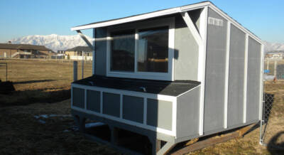 Modified Gambrel Chicken Coop Plan by David Hess